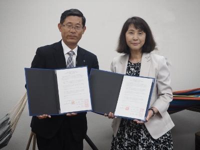 杜若高等学校と高大連携に係る協定書締結