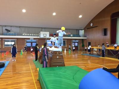 幼児教育学科 授業風景㉓ ―「幼児体育」―(第一部1年)
