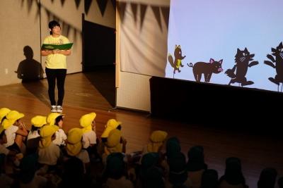 児童文化研究部が園児を招いて発表会を行いました:画像3