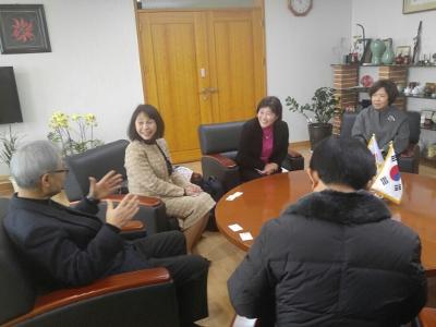 林学長が韓国の姉妹校を表敬訪問しました!