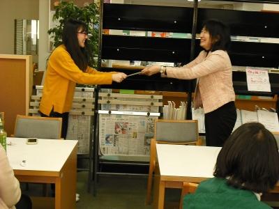 図書館サポーター活動報告「認定証授与式」:画像2