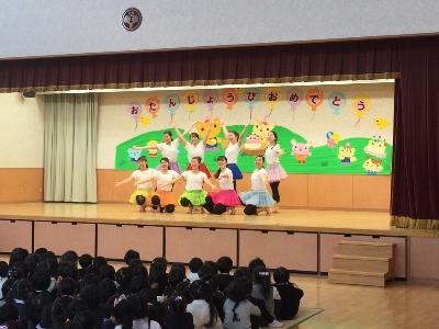 ダンス部 春休み 幼稚園でのボランティア活動報告