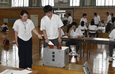 エレサポ(岡崎市学生選挙サポーター)岩津高校で選挙出前トーク:画像3