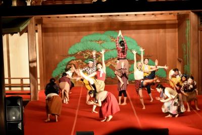 ダンス部が岡崎城内にある能楽堂で踊りました。:画像2