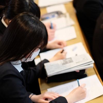 現代ビジネス学科1年「新聞の読み方」講座の開催!:画像2