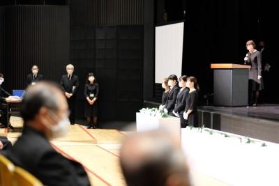 本学学生が「岡崎市平和祈念式」に参列しました!:画像2