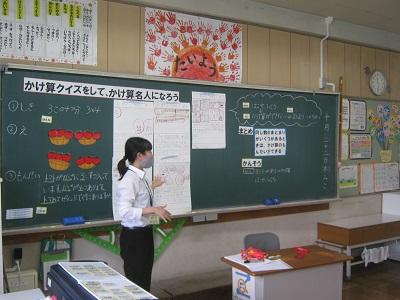 学校教育コースの4年生が教育実習をしました