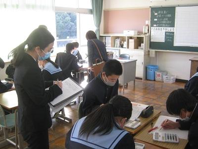 中学校の研究発表会に参加しました