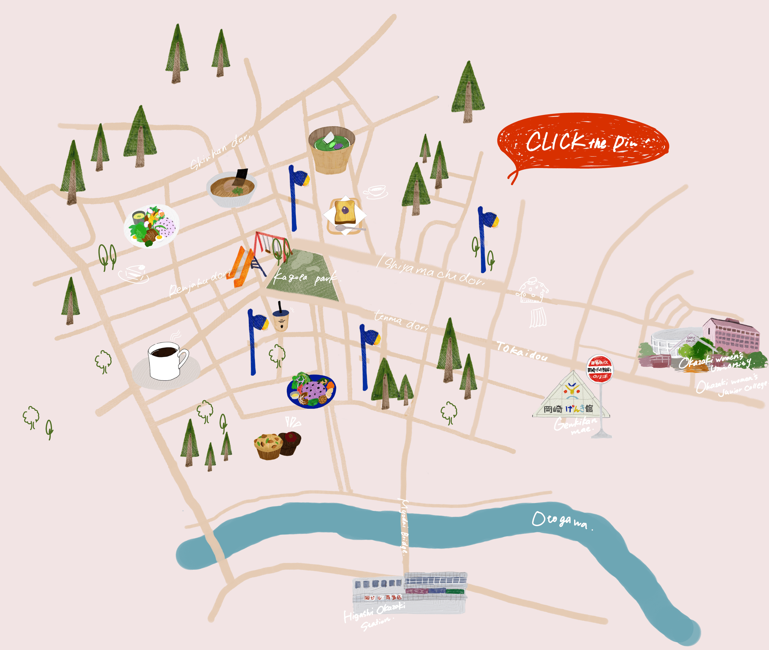岡崎周辺MAP